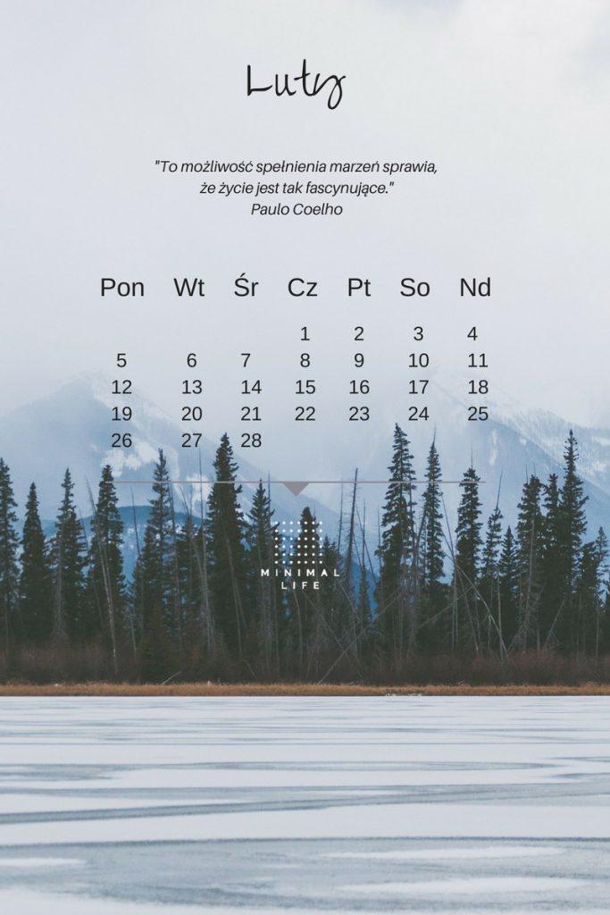tapeta z kalendarzem, tapeta z cytatem