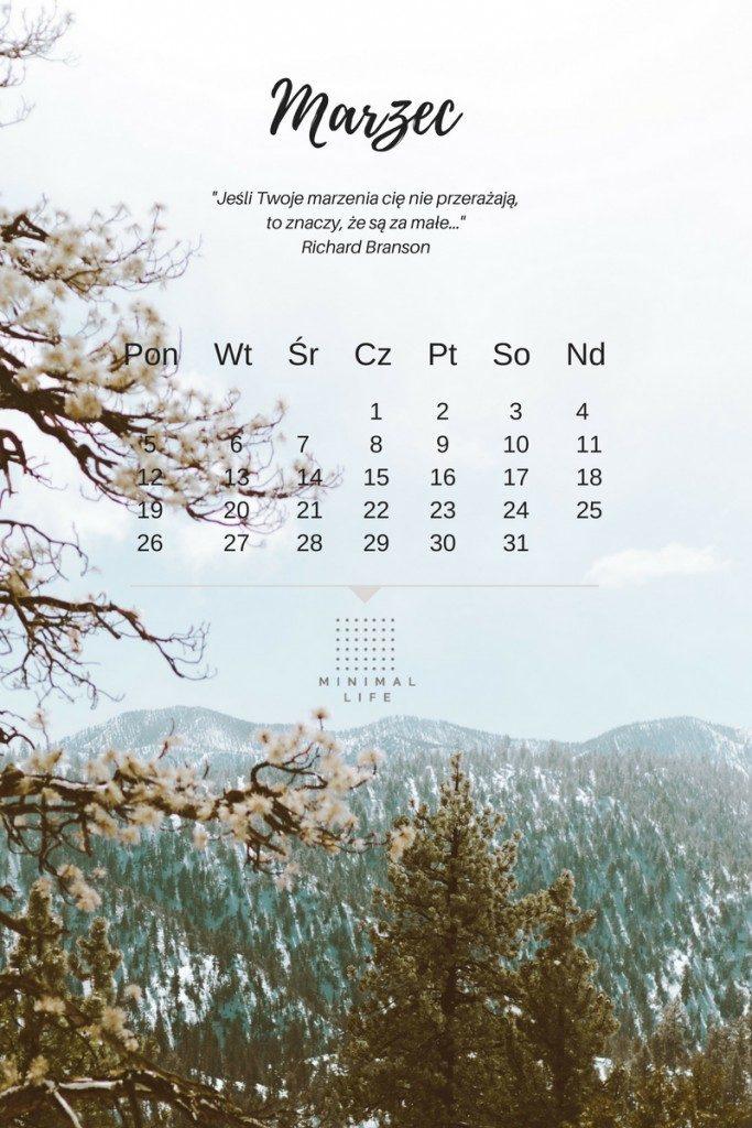tapeta z kalendarze, tapeta z cytatem