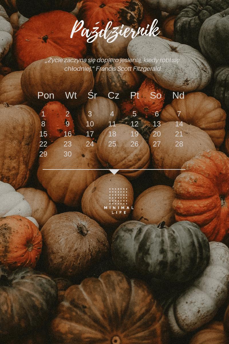 Tapeta zkalendarzem