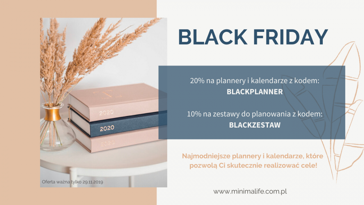 Black Friday plannery I kalendarze